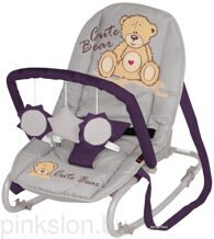 Шезлонг TOP RELAX Grey&Violet Bear